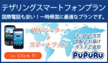 ホーム >>日本国内でご利用の方向けプランのご紹介(携帯電話レンタルサービスのププル) >> テザリングスマートフォンプラン